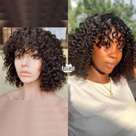 Classified Ads In Nigeria, Best Post Free Ads - curly-fringe-wig-100-human-hair-in-ojodu-lagos-for-sale-big-0