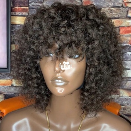 Classified Ads In Nigeria, Best Post Free Ads - curly-fringe-wig-100-human-hair-in-ojodu-lagos-for-sale-big-1