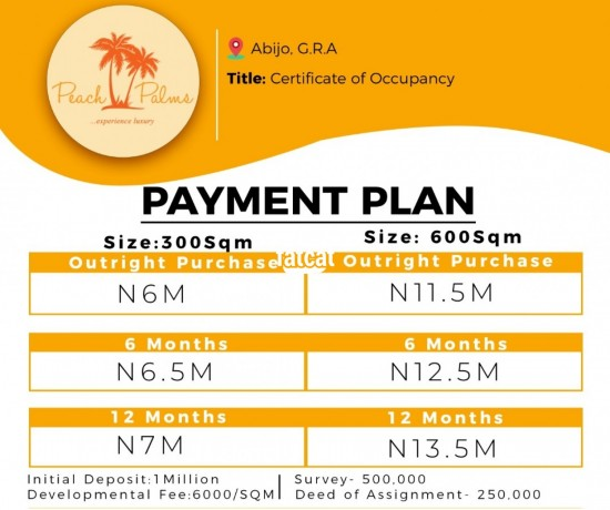 Classified Ads In Nigeria, Best Post Free Ads - plots-of-land-in-abijo-lagos-for-sale-big-0