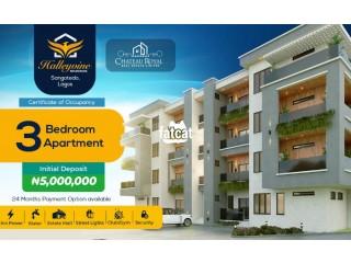 3 bedroom Ensuite Apartment in Sangotedo, Lagos for Sale