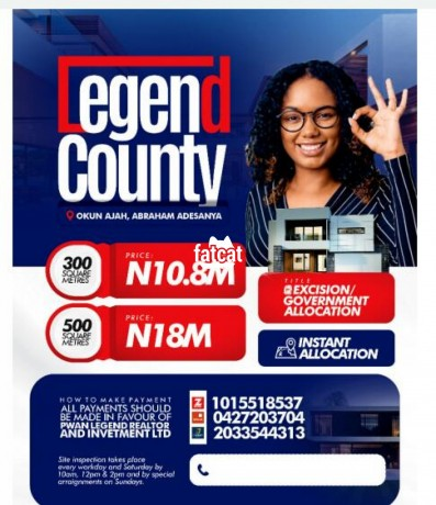 Classified Ads In Nigeria, Best Post Free Ads - plots-of-land-in-legend-county-estate-ogombo-road-lagos-for-sale-big-0