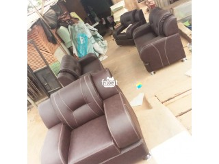7 Seater Brown Leather Sofa in Lagos for Sale
