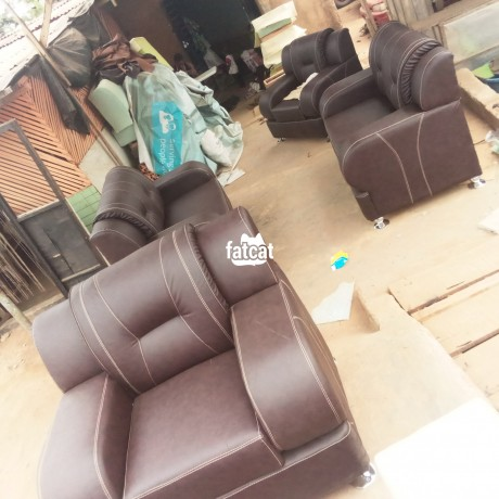 Classified Ads In Nigeria, Best Post Free Ads - 7-seater-brown-leather-sofa-in-lagos-for-sale-big-0