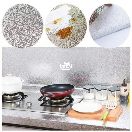 Classified Ads In Nigeria, Best Post Free Ads - self-adhesive-oil-proof-fireproof-kitchen-aluminum-stickers-60cm-x-1m-silver-in-abuja-fct-for-sale-big-1