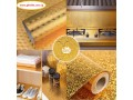 self-adhesive-oil-proof-fireproof-kitchen-aluminum-stickers-60cm-x-5m-gold-in-abuja-fct-for-sale-small-1