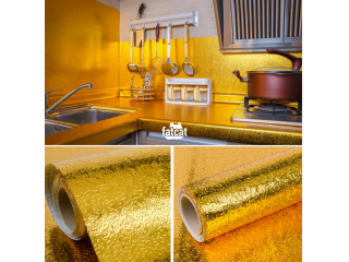 Self Adhesive Oil-Proof, Fireproof, Kitchen Aluminum Stickers (60cm X 5m) - Gold in Abuja, FCT for Sale