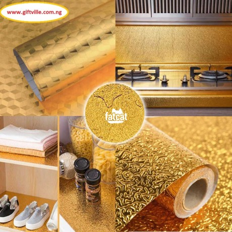 Classified Ads In Nigeria, Best Post Free Ads - self-adhesive-oil-proof-fireproof-kitchen-aluminum-stickers-60cm-x-5m-gold-in-abuja-fct-for-sale-big-1