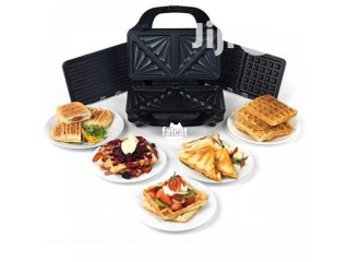 Salter Extra Large 3 in 1 Waffle Toaster and Grill in Ojo, Lagos for Sale