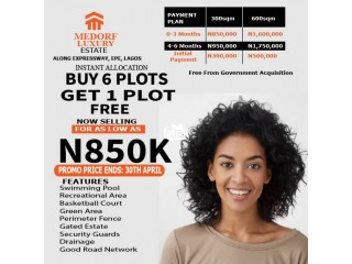 Land For Sale At Medorf Luxury Estate Directly Along Expressway Epe, Lagos