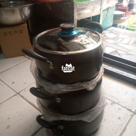 Classified Ads In Nigeria, Best Post Free Ads - kinelco-non-stick-belly-shape-cookware-set-in-utako-abuja-for-sale-big-1
