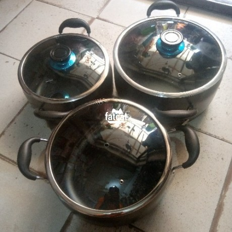 Classified Ads In Nigeria, Best Post Free Ads - kinelco-non-stick-belly-shape-cookware-set-in-utako-abuja-for-sale-big-0