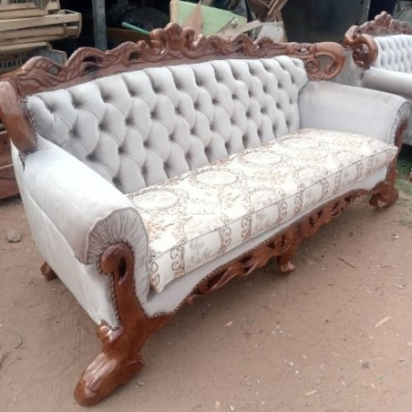 Classified Ads In Nigeria, Best Post Free Ads - 7-seater-set-of-sofa-chairs-in-karmo-abuja-for-sale-big-0