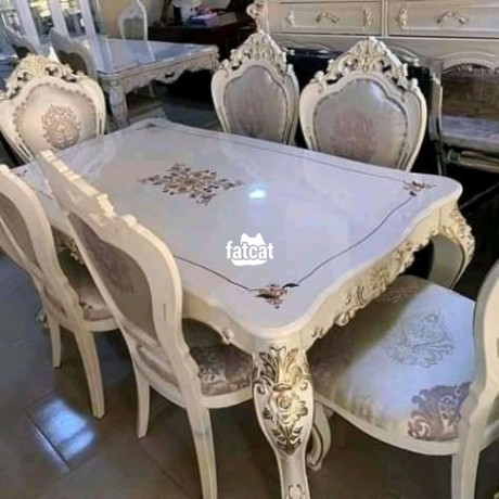 Classified Ads In Nigeria, Best Post Free Ads - 6-man-seater-dining-table-set-in-karmo-abuja-fct-for-sale-big-0