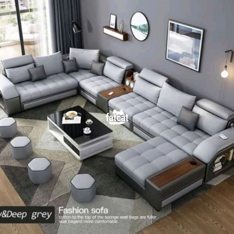 Classified Ads In Nigeria, Best Post Free Ads - 8-seaters-set-of-u-shape-chairs-in-karmo-abuja-for-sale-big-3