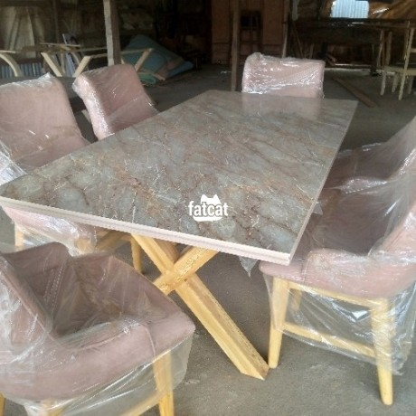 Classified Ads In Nigeria, Best Post Free Ads - 6-man-dining-table-set-in-karmo-abuja-fct-for-sale-big-0