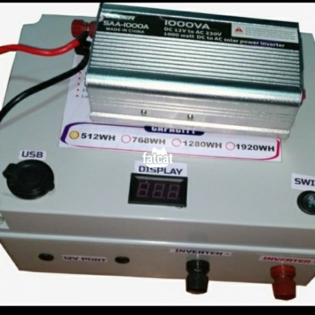 Classified Ads In Nigeria, Best Post Free Ads - lithium-laptop-power-bank-battery-400000mah-with-1000w-inverter-big-0