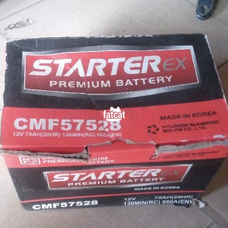 Classified Ads In Nigeria, Best Post Free Ads - 75ah-starterex-car-battery-big-0