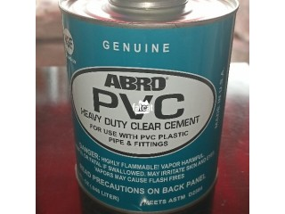 Genuine big Abro PVC heavy duty clear cement gum