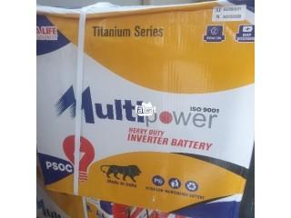 220AH 12V Multipower Tubular Inverter Battery