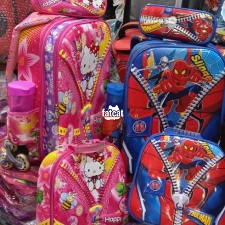 Classified Ads In Nigeria, Best Post Free Ads - quality-and-strong-children-trolley-school-bag-and-lunch-box-big-1