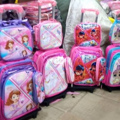 Classified Ads In Nigeria, Best Post Free Ads - quality-and-strong-children-trolley-school-bag-and-lunch-box-big-0