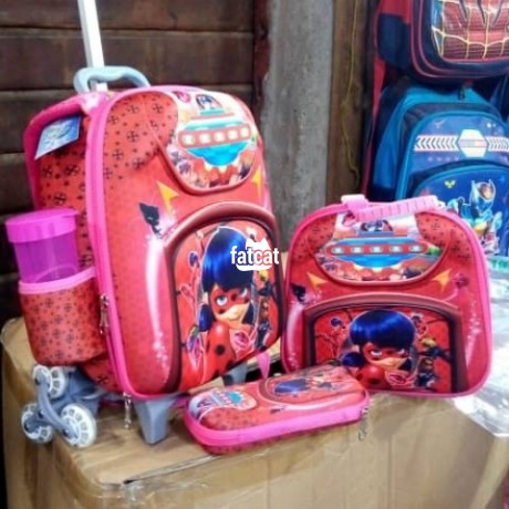 Classified Ads In Nigeria, Best Post Free Ads - quality-and-strong-kids-trolley-school-bag-and-lunch-box-big-0