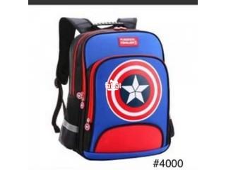 Navy Blue Captain America Bag