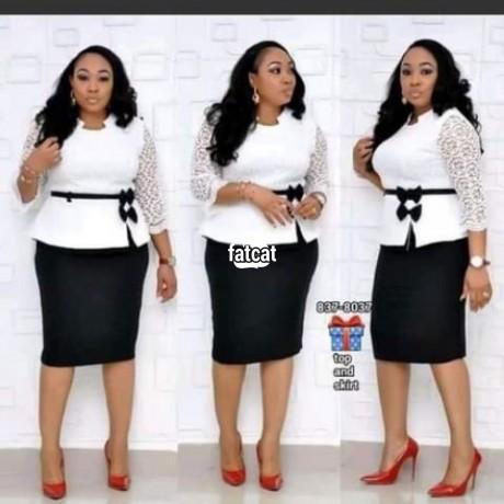 Classified Ads In Nigeria, Best Post Free Ads - stretchy-white-office-peplum-dress-big-0