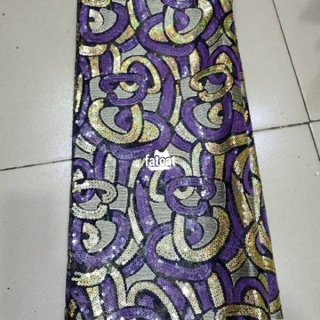 Classified Ads In Nigeria, Best Post Free Ads - 5-yards-net-lace-with-sequence-big-1