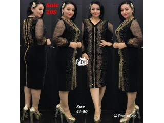 Black and Gold Ladies Dinner Gown