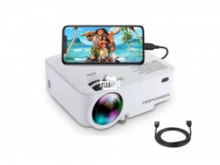 """DBPOWER Portable Mini Projector, 176"""" Display, 1080P Supported 50,000 Hrs Home Movie Projector"""
