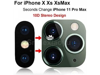 IPhone XS,XS MAX,X Camera Lens Protector & Upgrade To 11 Pro MAX