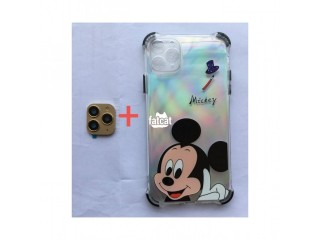For IPhone X XS XSmax To 11 PRO MAX Camera Lens PLUS Mickey Mouse Case