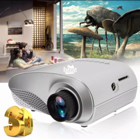 Classified Ads In Nigeria, Best Post Free Ads - 1080p-hd-mini-led-projector-for-home-multimedia-cinema-support-av-tv-vga-usb-hdmi-sd-uk-plugwhite-big-3