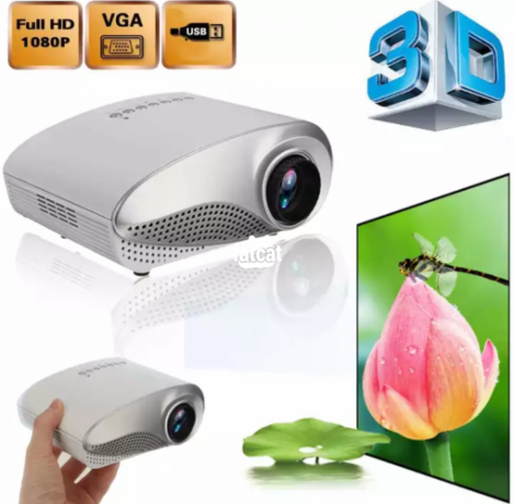 Classified Ads In Nigeria, Best Post Free Ads - 1080p-hd-mini-led-projector-for-home-multimedia-cinema-support-av-tv-vga-usb-hdmi-sd-uk-plugwhite-big-4