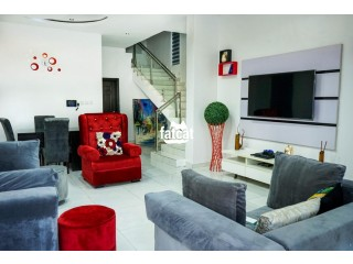Short Let Luxury 4 Bedrooms Fully Detached Duplex in Lekki