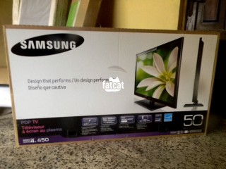 "Brand New 50"" Samsung Plasma 1080p TV Dirt"