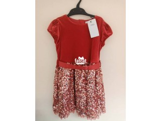 Red Beautiful 6- 7 Years Girls Ball Gown
