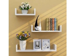 U-Shaped Floating Shelves (3 pieces set) in Abuja for Sale