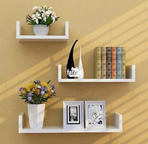 Classified Ads In Nigeria, Best Post Free Ads - u-shaped-floating-shelves-3-pieces-set-in-abuja-for-sale-big-0