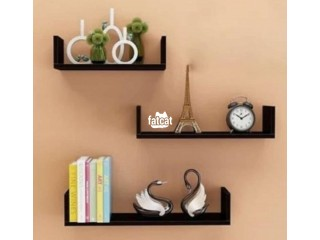 U-shaped floating shelves (3 pieces set)  Black in Abuja for Sale