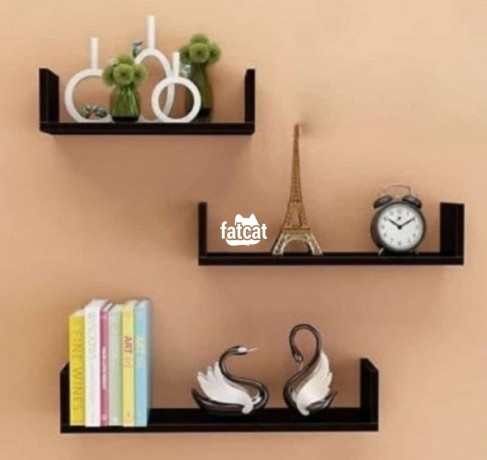 Classified Ads In Nigeria, Best Post Free Ads - u-shaped-floating-shelves-3-pieces-set-black-in-abuja-for-sale-big-0