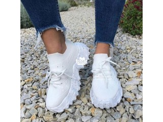 Chunky White Sneakers for Women in Abuja for Sale